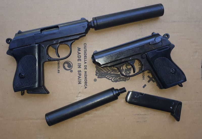 Denix Walther PPK with silencer